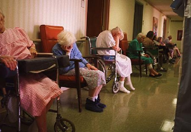 sending aged parents to old folks