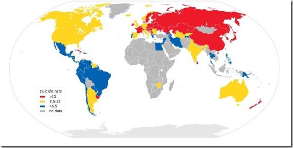 карта суицидов